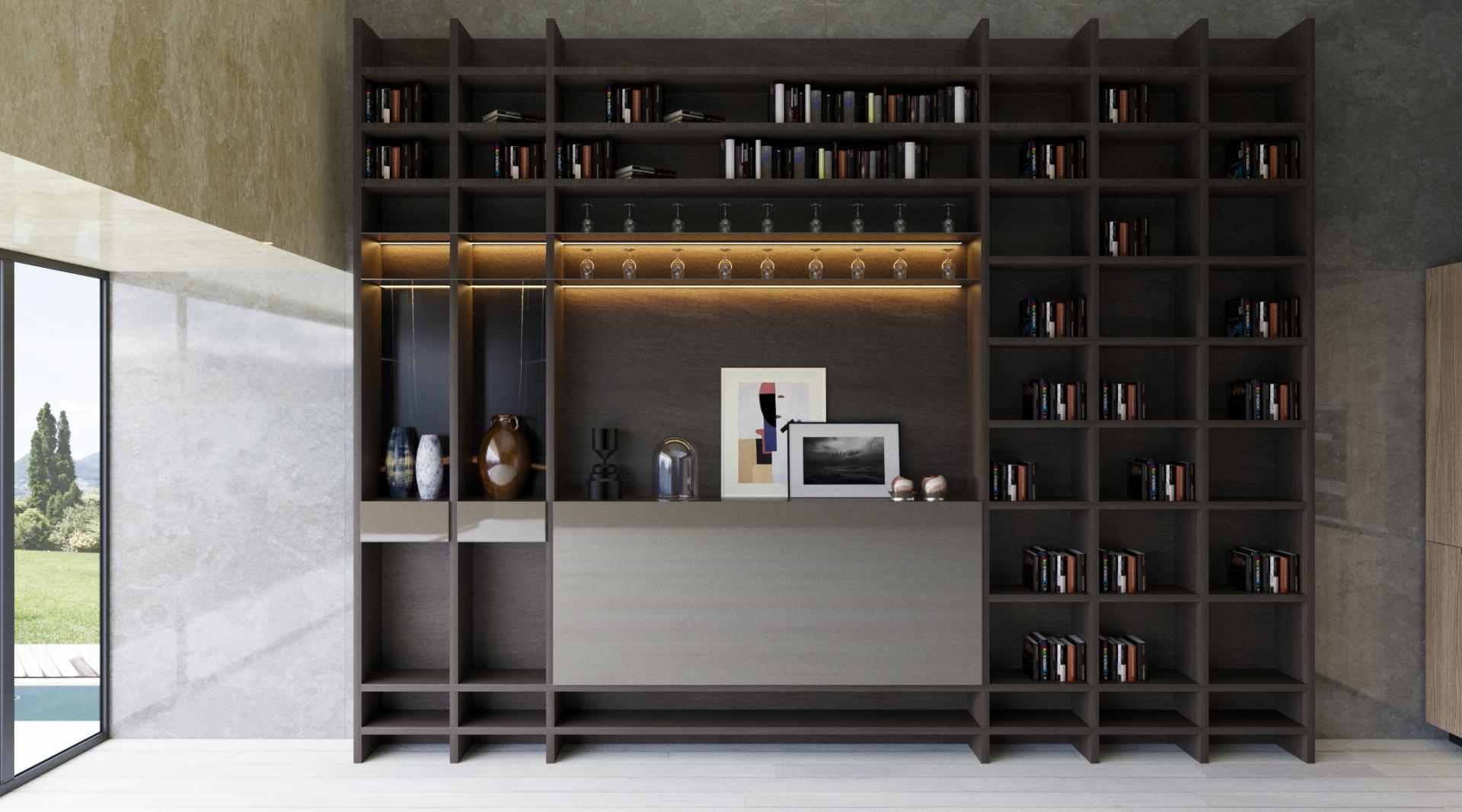 Bar Kitaplık / Bar