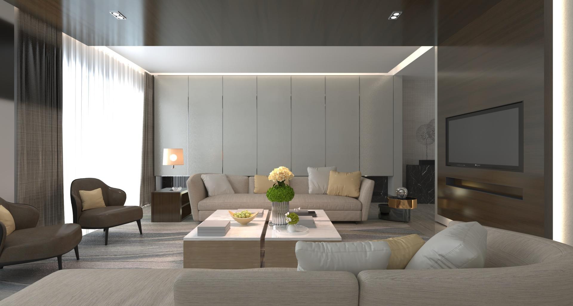 Modern Salon Projeleri